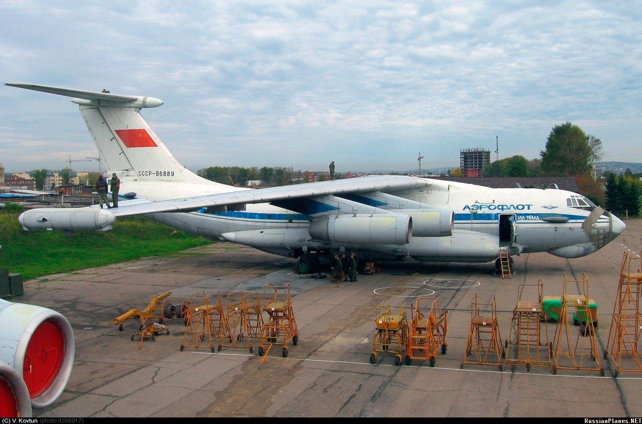 Ил 76пп на учебном аэродроме в иркутске
