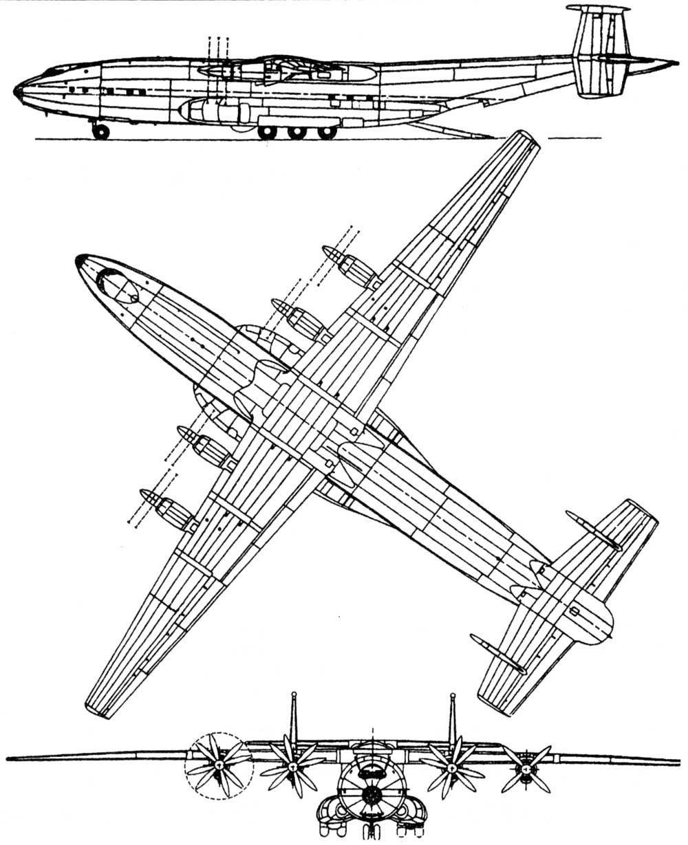 Самолет ан 12 схемы