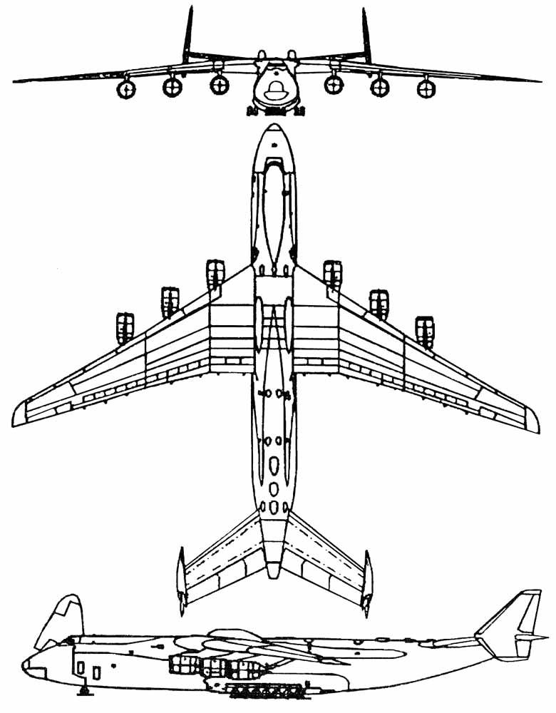 Чертёж схема самолёта