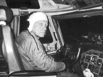 В.Мигунов в кабине Ан-124