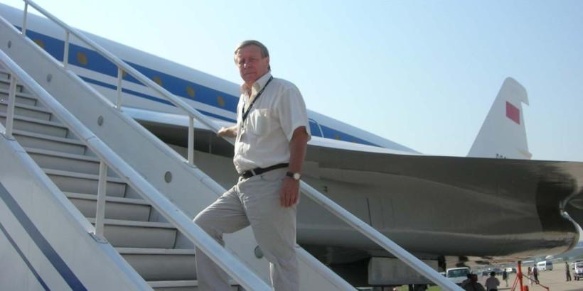 Г.Г.Ирейкин у Ту-144Д
