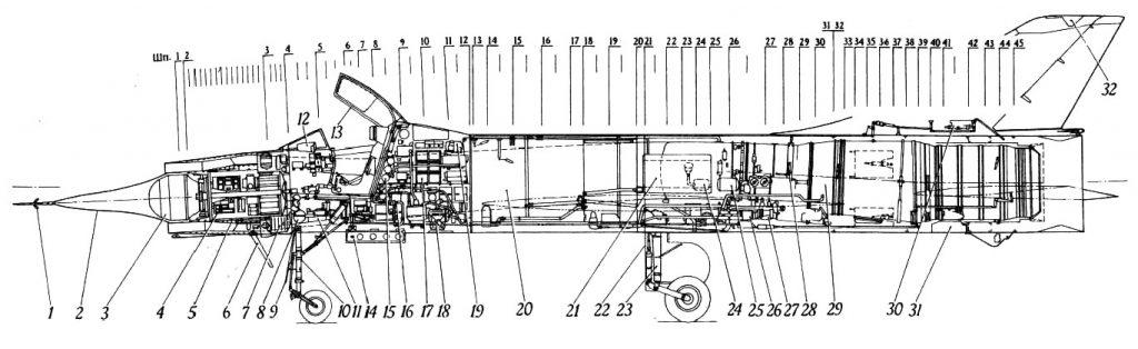 Компоновка самолета Т-37
